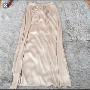Nude silk maxi skirt! So beautiful but too big 4me